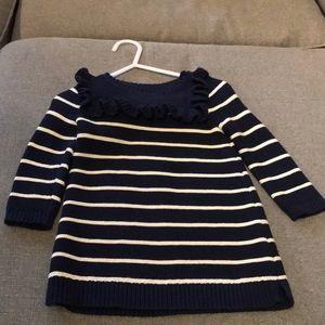 Baby girl striped sweater dress.